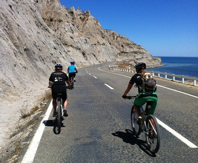 Sea views as you cycle along!