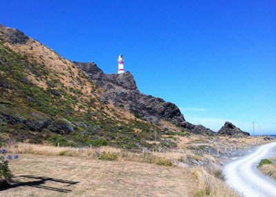 Cape Palliser Lighthouse, which earned a place in Lonely Planet's Top 10 'Flashiest Lighthouses.'