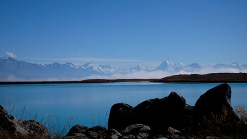 Lake Pukaki on the Twin Trails Tour: Alps 2 Ocean Trail + Otago Rail Trail