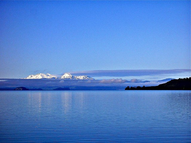 serene lake taupo