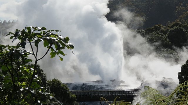 One of Rotorua's many geothermal attractions